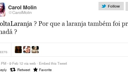 Por que o #VoltaLaranja virou assunto número 1 no Twitter