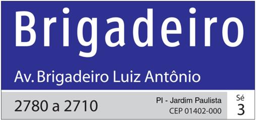 Placa Brigadeiro