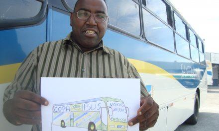 Copa Bus: ônibus e motorista enfeitados vão circular por Santo André na Copa do Mundo