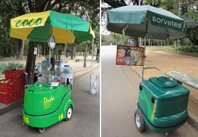 O carrinho de cocô e o de sorvete: ambos pertencem às cooperativas