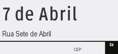 Por que a rua Sete de Abril tem este nome?