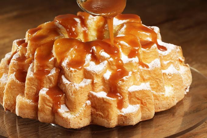 """Uma das opções sem glúten da """"Santo Bolo"""" é o bolo de laranja com fécula de batata"""