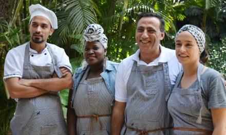 Os bastidores do almoço que a chef Bel Coelho preparou com três chefs refugiados