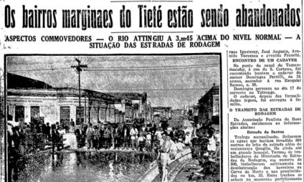 A pior enchente da história de São Paulo